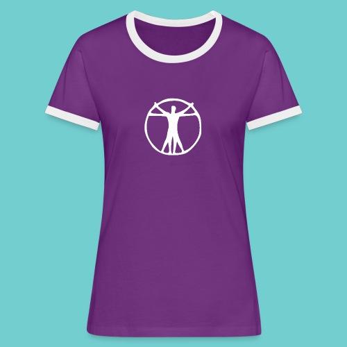human png - Frauen Kontrast-T-Shirt