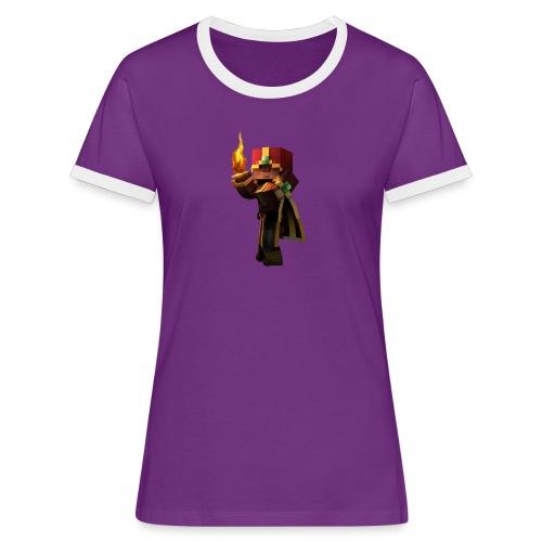 Musmatta - Kontrast-T-shirt dam