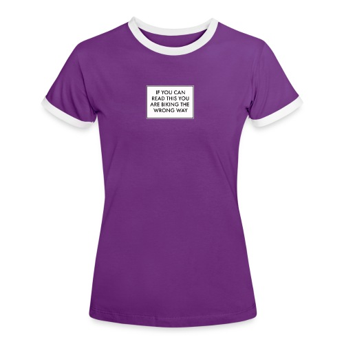 if u can read this - T-shirt contrasté Femme