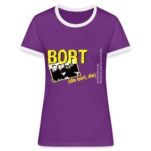 Bort Gruppenbild - Frauen Kontrast-T-Shirt