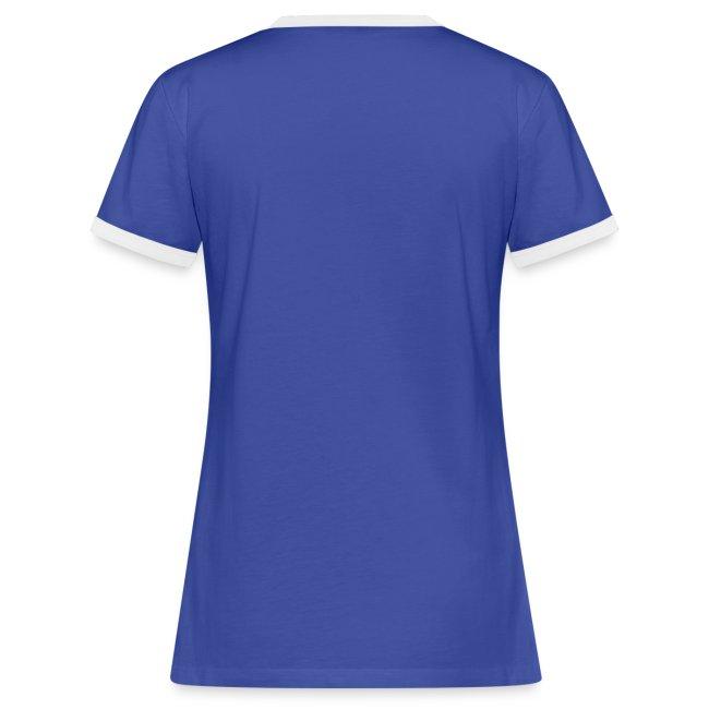Vorschau: Lasst mich in Ruhe Hund - Frauen Kontrast-T-Shirt
