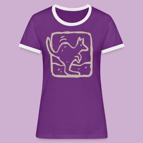 Känguru - Frauen Kontrast-T-Shirt
