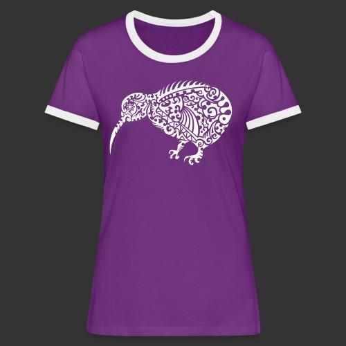Kiwi Maori - Frauen Kontrast-T-Shirt