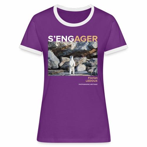 1 Achat = 1 Don à l'association ArcticArtsProject - T-shirt contrasté Femme