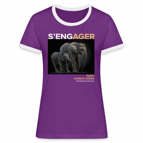 1 Achat = 1 Don à l'association Rainfer - T-shirt contrasté Femme