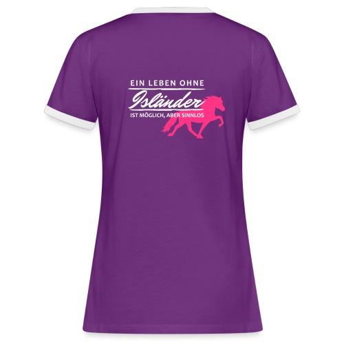 T-Shirt Spruch Leben Islä - Frauen Kontrast-T-Shirt