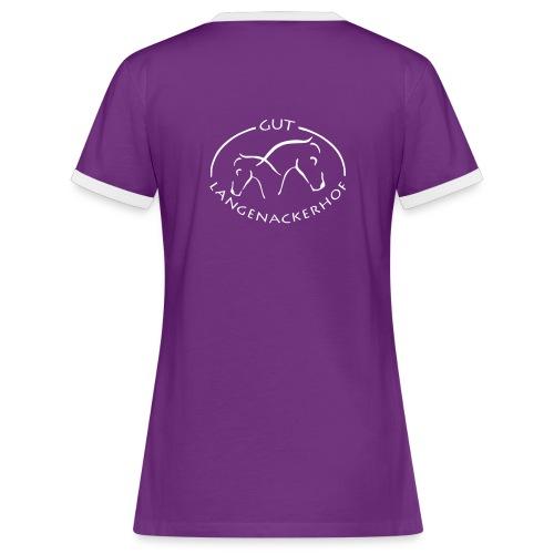 logolangenacker - Frauen Kontrast-T-Shirt
