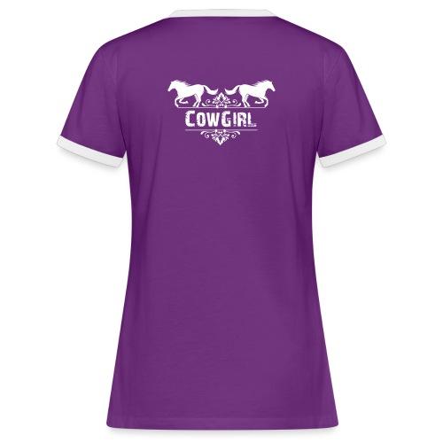 Cowgirl, chevaux - T-shirt contrasté Femme