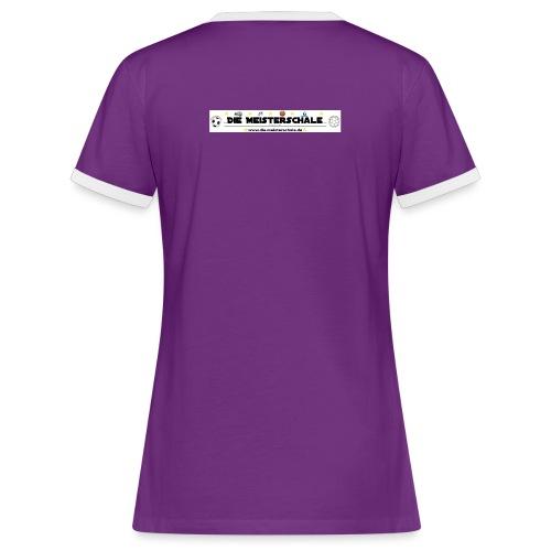 Die Meisterschale Logo Banner Werbung jpg - Frauen Kontrast-T-Shirt