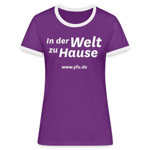YFU_Logo_RS_weiss - Frauen Kontrast-T-Shirt
