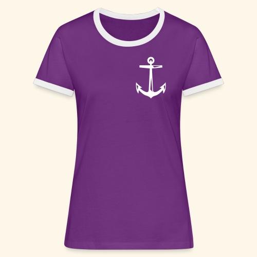 schlageranker01 - Frauen Kontrast-T-Shirt