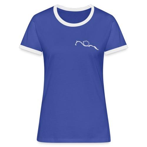 misterio weiß1 gif - Frauen Kontrast-T-Shirt