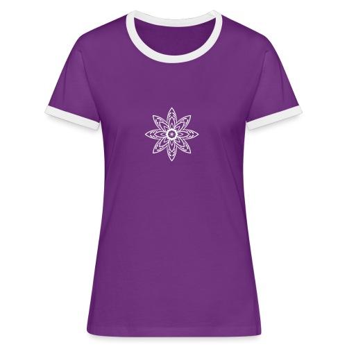 Flower - Frauen Kontrast-T-Shirt