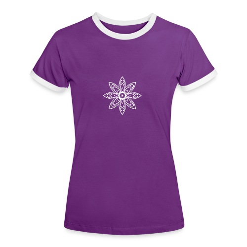 Flower - Frauen Kontrast-T-Shirt