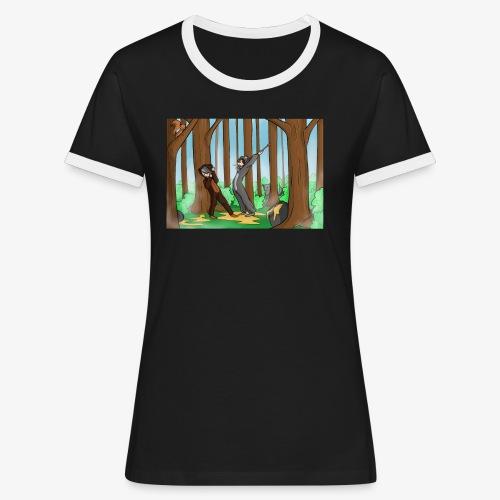 BEERTJEEE - Vrouwen contrastshirt