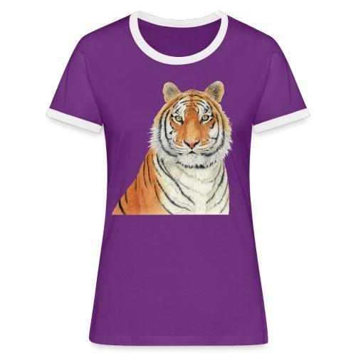 Tigre,Tiger,Wildlife,Natura,Felino - Maglietta Contrast da donna