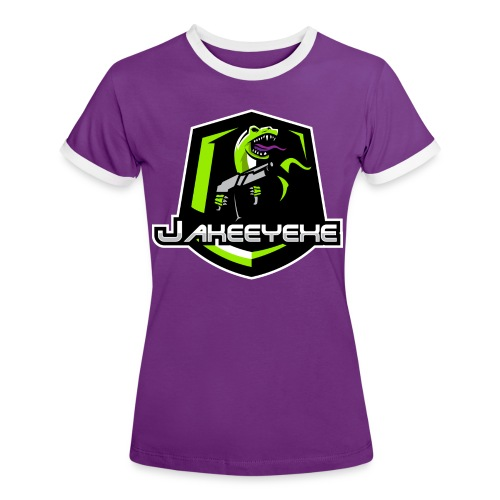 JakeeYeXe Badge - Women's Ringer T-Shirt