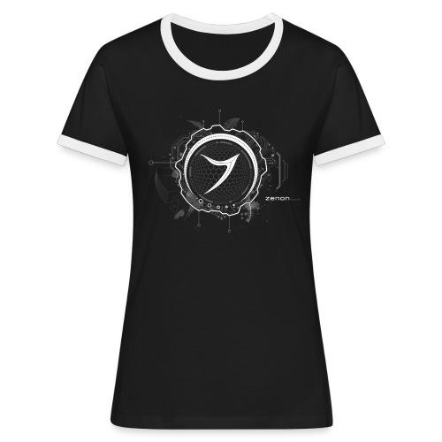 Zenon TECH (white) - Women's Ringer T-Shirt