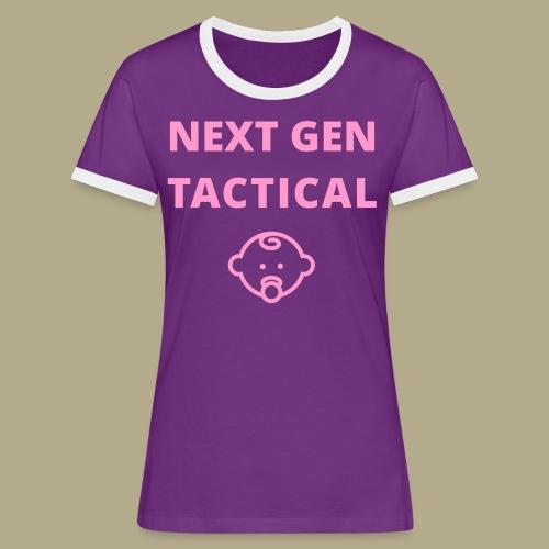 Tactical Baby Girl - Vrouwen contrastshirt