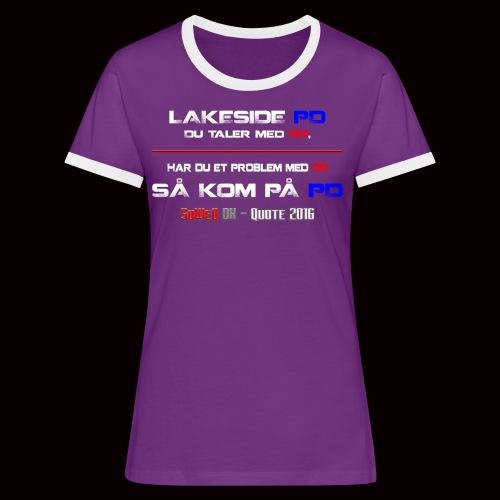 DD på PD Kollektion 2016 - Dame kontrast-T-shirt