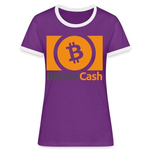 Bitcoin Cash - Naisten kontrastipaita