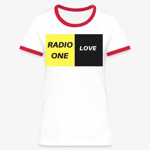 RADIO ONE LOVE - T-shirt contrasté Femme