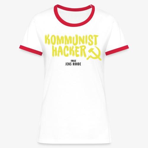 Kommunist Hacker ifølge Jens - Dame kontrast-T-shirt