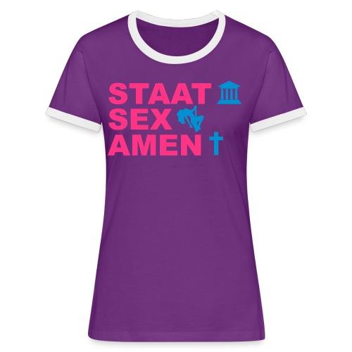 Staatsexamen / Staat Sex Amen - Frauen Kontrast-T-Shirt