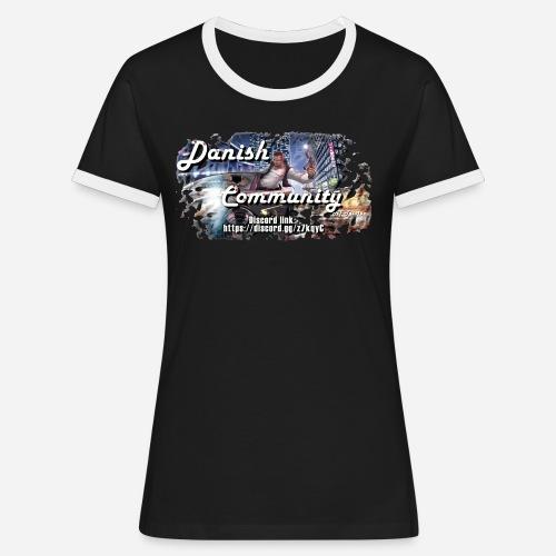 Dansih community - fivem2 - Dame kontrast-T-shirt
