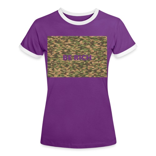ARMY TINT - Vrouwen contrastshirt