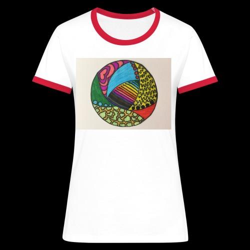 circle corlor - Dame kontrast-T-shirt