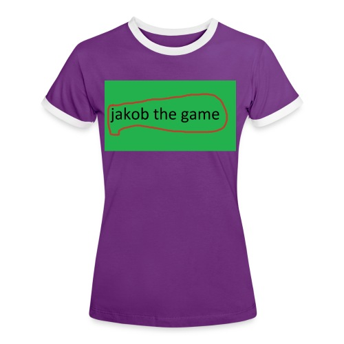 jakob the game - Dame kontrast-T-shirt
