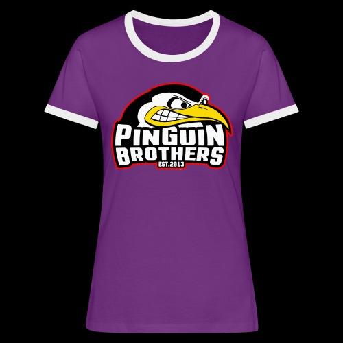 Pinguin bracia Clan - Koszulka damska z kontrastowymi wstawkami