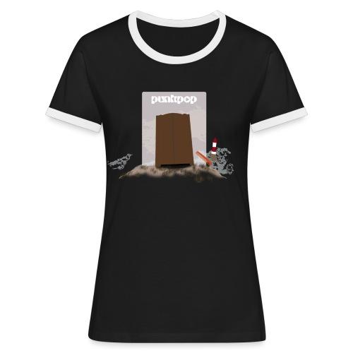 Dark Close PunkPop - Maglietta Contrast da donna
