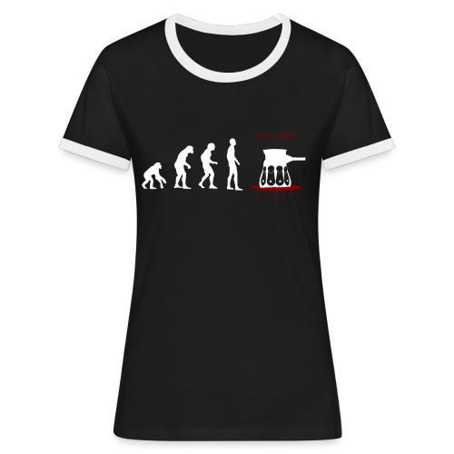 Evoluti...Ops - Maglietta Contrast da donna