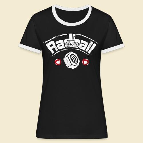 Radball   Mutter - Frauen Kontrast-T-Shirt
