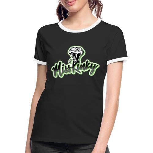 Logo Miss Kinky vert - T-shirt contrasté Femme