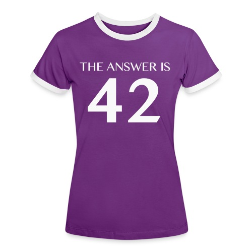 The Answer is 42 White - Women's Ringer T-Shirt