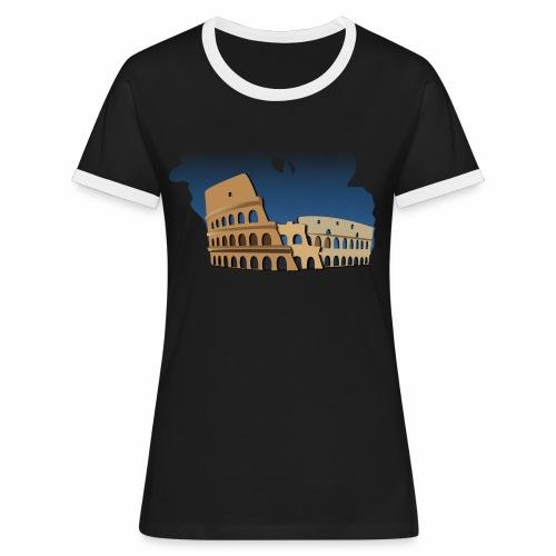 Kolosseum - Frauen Kontrast-T-Shirt