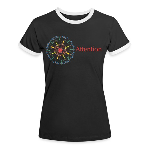 Attention - Women's Ringer T-Shirt