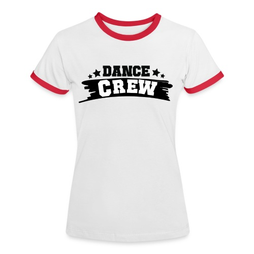 Tshit_Dance_Crew by Lattapon - Dame kontrast-T-shirt