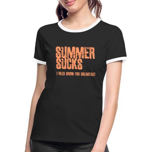 SUMMER SUCKS - Vrouwen contrastshirt
