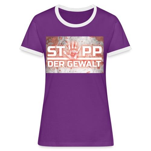 STOPP DER GEWALT - Women's Ringer T-Shirt