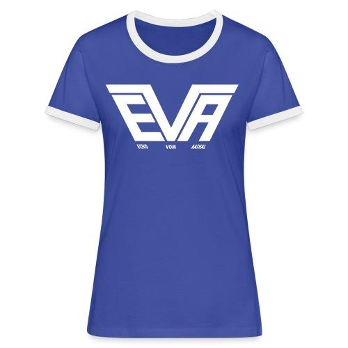 EVA Logo FB 01fürPfade - Frauen Kontrast-T-Shirt