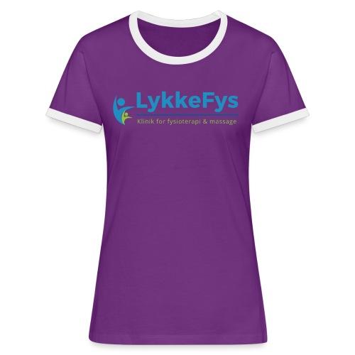 Lykkefys Esbjerg - Dame kontrast-T-shirt