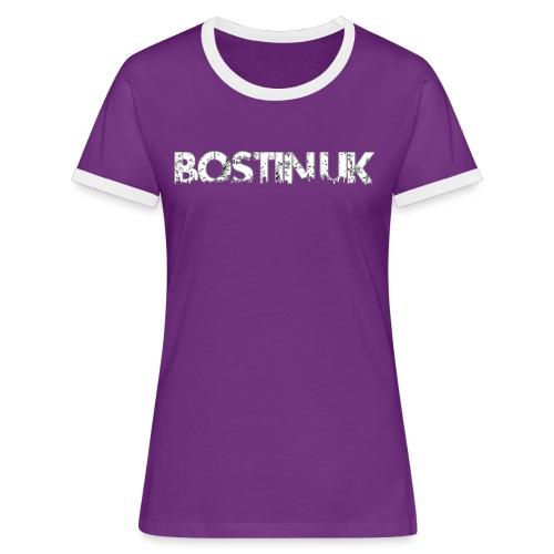 bostin uk white - Women's Ringer T-Shirt