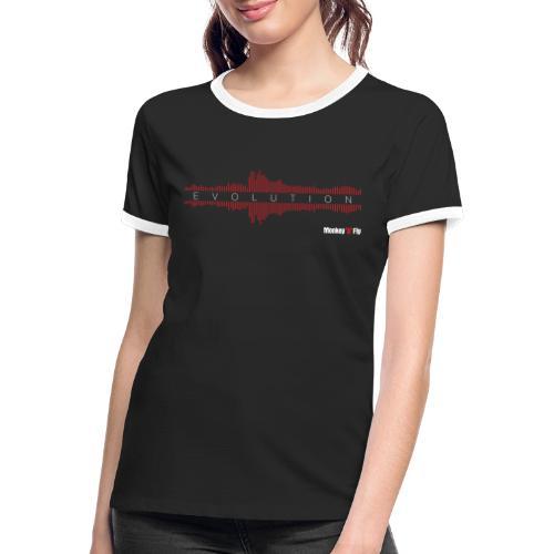 Monkey Fly - Evolution - Dark - Frauen Kontrast-T-Shirt