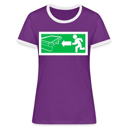"Billard Shirt ""Notausgang Billard"" - Pool Billard - Frauen Kontrast-T-Shirt"