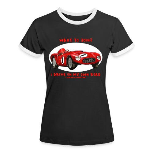 Happy Car Red - Women's Ringer T-Shirt