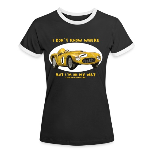 Happy Car Yellow - Women's Ringer T-Shirt